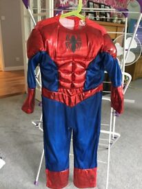 Children's Spider-Man fancy dress/ dressing up outfit (age 5-6 years)
