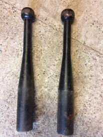 Vintage metal club weights