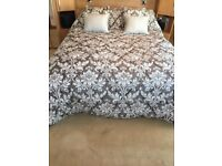 """UNUSED"". Ex Show Home, Ex-Display, Luxury, Silver Grey and White, Quilted Bedspread."