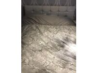 White king size bed frame only