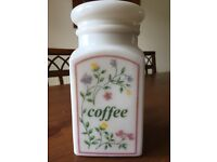 Summer chintz storage jar for coffee