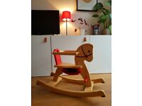 Solid wood, retro rocking horse in a VERY GOOD CONDITION