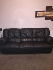Full Leather Sofa 2 Piece Set