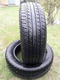 2 chengshan tyres part worn 185 65 R15 Excellent