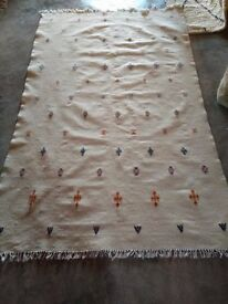 Authentic Handmade Berber Moroccan Rug 100% Wool Beni Ourain