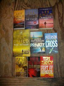 Book selection Thriller Murder Mystery including Lee Child (Jack Reacher) James Patterson
