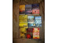 Book selection Thriller Murder Mystery including Lee Child (Jack Reacher) James Patterson