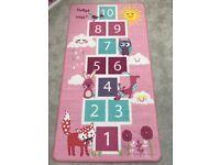 Children's hopscotch rug