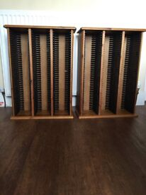 2 cd racks holding 120 cds in each unit