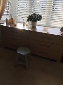 Two 3 drawer chest of drawers