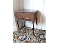 1950's sewing box table