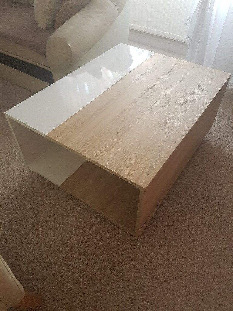 White&oak caffee table