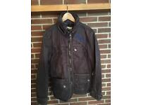 Very rare Superdry Motorcycle jacket, waxed, lined, double zipped