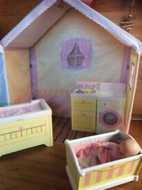 Wendy house, Rose cottage, with accessories