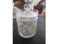 Cut Glass Sweet/Bon Bon/Storage Jar