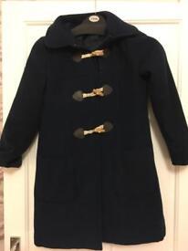 Girls navy duffle coat