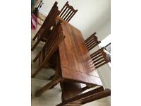 Dining table & 6 chairs & 2 extenders