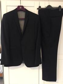 Mans Next slim black suit - 36S jacket / 32S + 30S trousers - £20