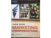 John Egan Marketing Communications book good condition 2007 edition