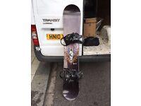 Never Summer Titan Ltd Edition Snowboard, Burton Boots, Burton Carbon Fibre Bindings
