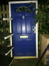 Double glazed door and trims