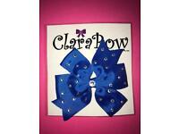 ClaraBow Blue Bow with Diamanté Detailing