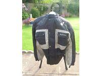 XXL Mens Raven Black/Grey Longer Bike Jacket.