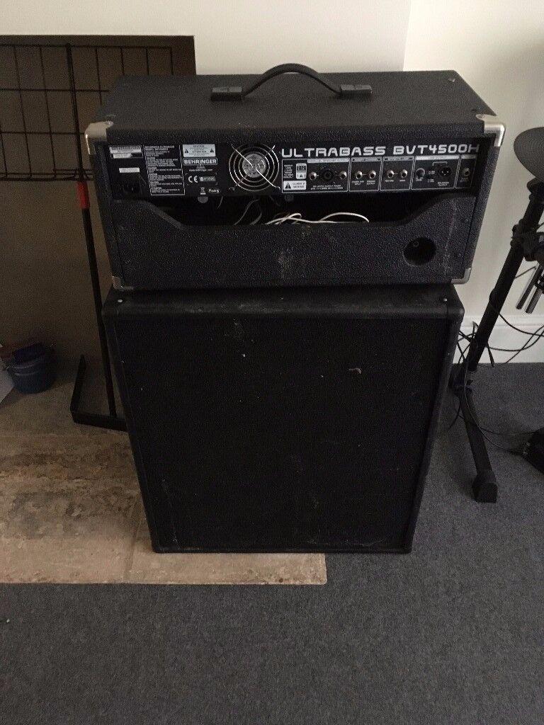 BEHRINGER ULTRABASS BVT4500H BASS AMP HEAD AND SPEAKER CAB FOR SALE