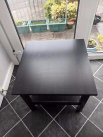 IKEA side/coffee table black good condition