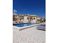 rent villa with pool in Alicante aera spain