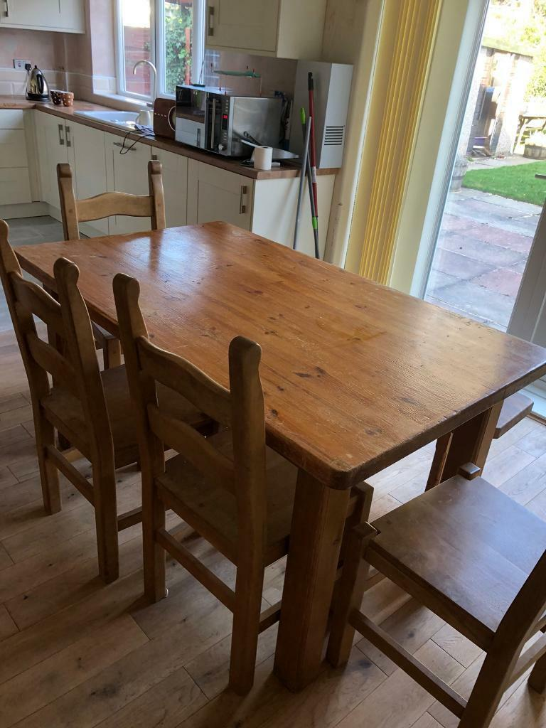 Sale Manchester 7000 Solid Wood Table 4 Chairs And Bench