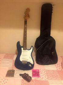 Squier by Fender Strat Electric Guitar - Blue £50 Bargain