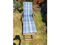 Hardwood sun chair
