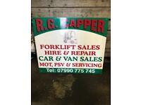 RG CAPPER MOBILE FORKLIFT SERVICES