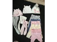 Baby girls leggings, tights, hats and mittens