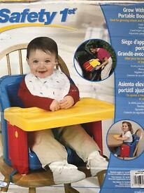 Lindam grow with me booster high chair seat