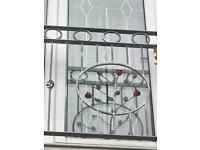 Galvanised wrought iron balustrade