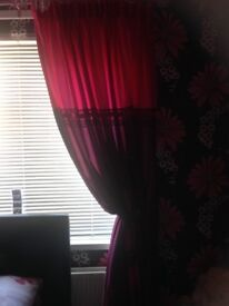 """Faux silk fully lined curtains 66""""w x 72""""drop excellent condition"""