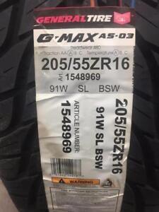 4 Brand New General G-Max AS-03 205/55R16 *** WallToWallTires.com ***