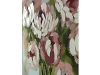 Canvas Painting of Peonies