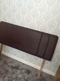 Leather effect king size headboard