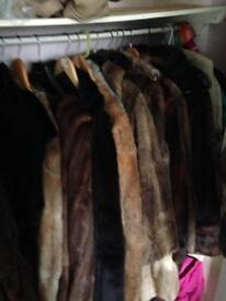 Vintage fur coats job lot