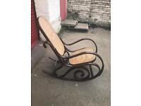 Antique bentwood Bergere rocking chair