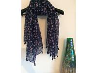 Blue/pink scarf