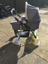 BRAND NEW UNUSED hauck pram 3-way. From birth to toddler