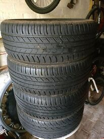 Full Set (x4) of Nearly New Car Tyres (205/55/R16)