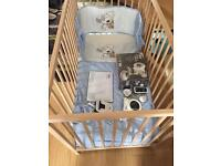 Baby cot with extras