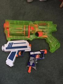 Sold See through Nerf maverick and Star Wars gun+ jolt