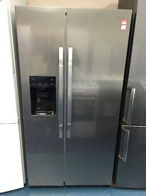 New Ex-Display Kenwood KSBSDIX16 American Style Fridge Freezer Stainless Steel £499