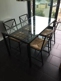 IKEA glass table and chairs *bargain*